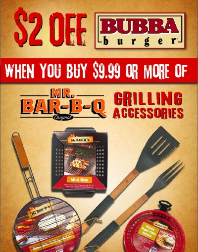 MR BBQ Accessories $2 OFF Bubba Burger