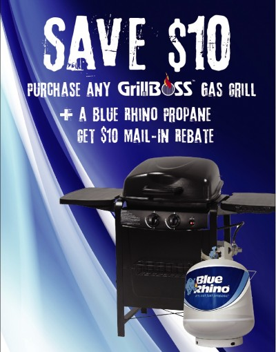 Gas Grill Promo $10